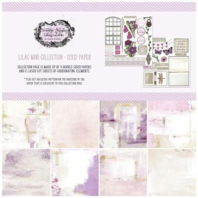 49 And Market Collection Pack Designpapier Vintage Artistry - Lilac