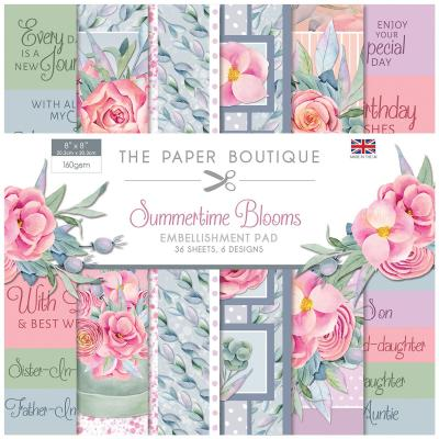 The Paper Boutique Summertime Blooms Designpapier - Embellishment Pad