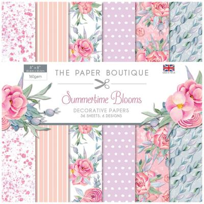 The Paper Boutique Summertime Blooms Designpapier - Paper Pad