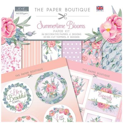 The Paper Boutique Summertime Blooms Designpapier - Paper Kit
