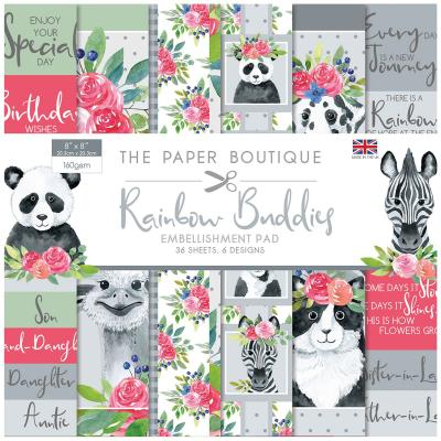 The Paper Boutique Rainbow Buddies Designpapier - Embellishment Pad