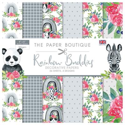 The Paper Boutique Rainbow Buddies Designpapier - Paper Pad