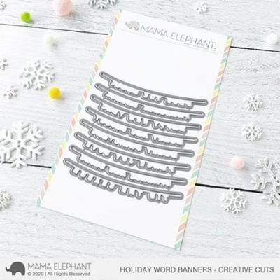 Mama Elephant Creative Cuts - Holiday Word Banners