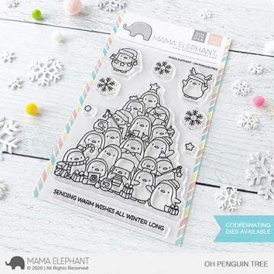 Mama Elephant Clear Stamps - Oh Penguin Tree