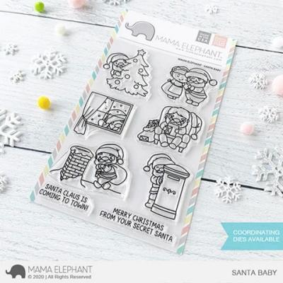Mama Elephant Clear Stamps - Santa Baby
