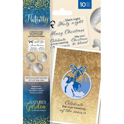 Crafter's Companion Nativity Clear Stamps and Dies - A Christmas Scene