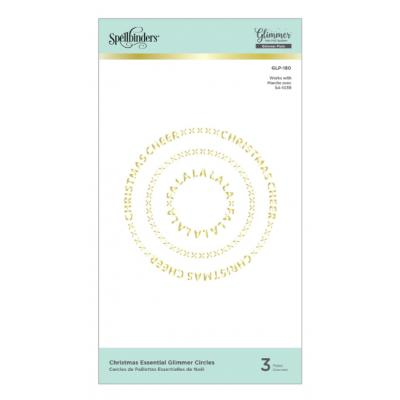 Spellbinders Glimmer Hot Foil Plates - Christmas Essential Glimmer Circles