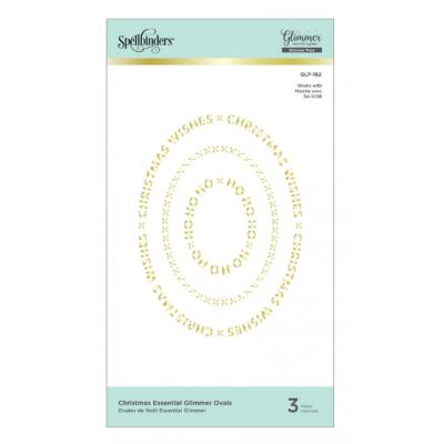 Spellbinders Glimmer Hot Foil Plates - Christmas Essential Glimmer Ovals