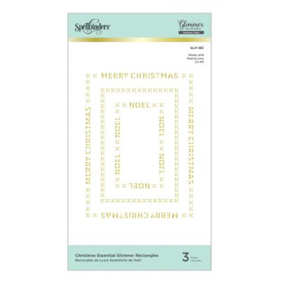 Spellbinders Glimmer Hot Foil Plates - Christmas Essential Glimmer Rectangles