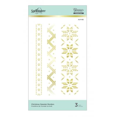 Spellbinders Glimmer Hot Foil Plates - Christmas Sweater Borders
