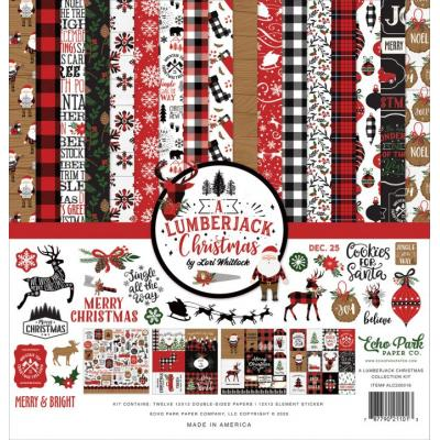 Echo Park A Lumberjack Christmas Designpapier - Collection Kit