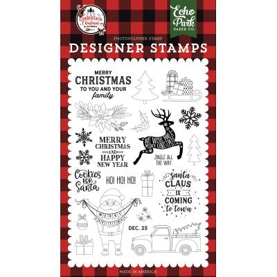 Echo Park A Lumberjack Christmas Clear Stamps - Cookies for Santa