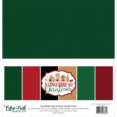 Echo Park A Gingerbread Christmas Cardstock - Solids Kit