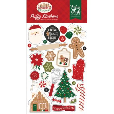 Echo Park A Gingerbread Christmas - Puffy Stickers