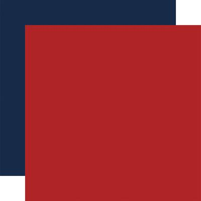 Echo Park Silent Night Cardstock - Red  Navy