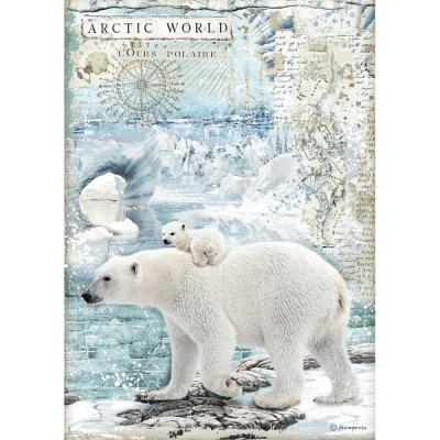 Stamperia Rice Paper - Artic World Polar Bears