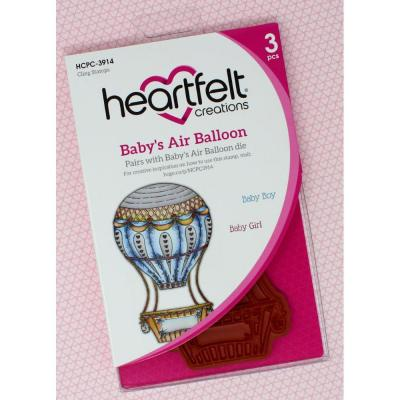 Heartfelt Creations Cling Rubber Stamp Set - Baby's Air Balloon