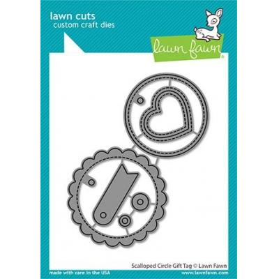 Lawn Fawn Lawn Cuts - Scalloped Circle Gift Tag