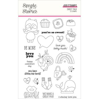 Simple Stories Sweet Talk Clear Stamps - Sweet Talk