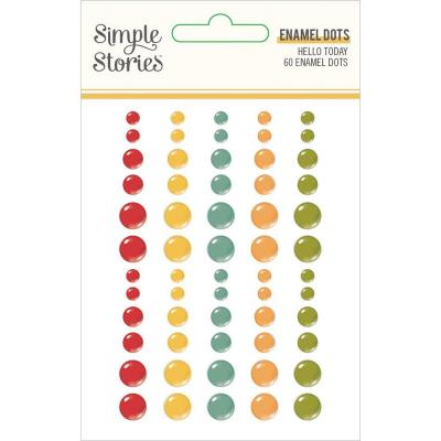 Simple Stories Hello Today Embellishments - Enamel Dots