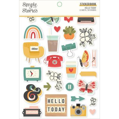 Simple Stories Hello Today - Sticker Book