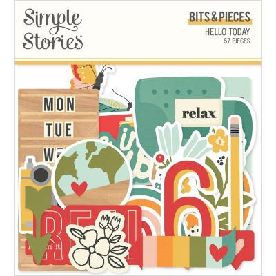 Simple Stories Hello Today Die-Cuts - Bits & Pieces