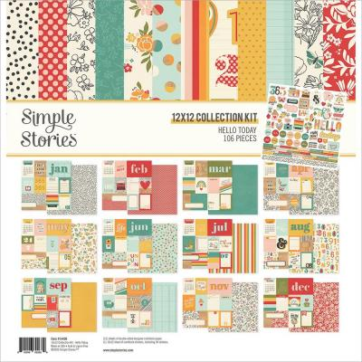 Simple Stories Hello Today Designpapier - Collection Kit
