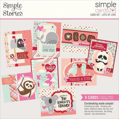 Simple Stories Sweet Talk Card Kit - Lots Of Love