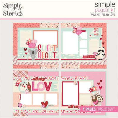 Simple Stories Sweet Talk Page Kit - All My Love