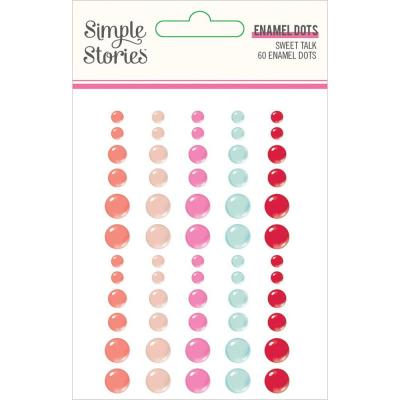 Simple Stories Sweet Talk Embellishments - Enamel Dots