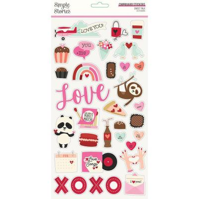Simple Stories Sweet Talk - Chipboard Stickers