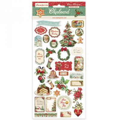 Stamperia Chipboard - Classic Christmas