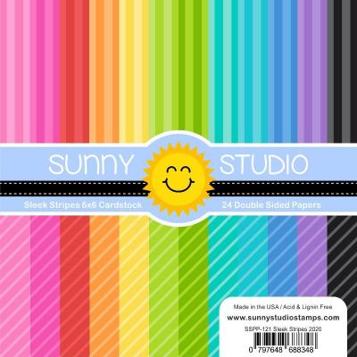 Sunny Studio Designpapier - Sleek Stripes