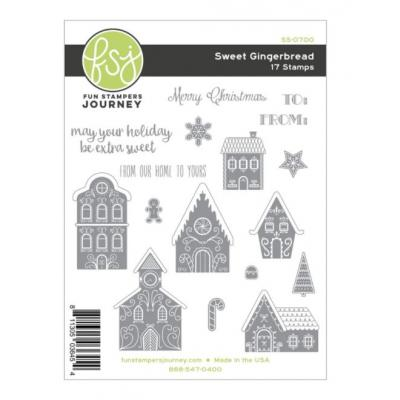 Fun Stampers Journey Rubber Stamps - Sweet Gingerbread