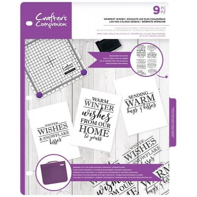 Crafter's Companion Clear Stamps - Warmest Wishes