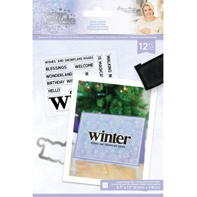 Crafter's Companion Glittering Snowflakes Clear Stamps & Die - Winter Solstice