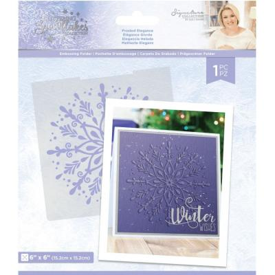 Crafter's Companion Glittering Snowflakes - Frosted Elegance