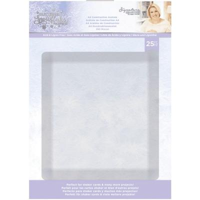 Crafter's Companion Glittering Snowflakes - Construction Acetate