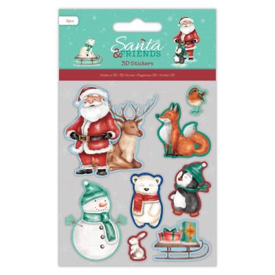 Papermania 3D Stickers - Santa and Friends