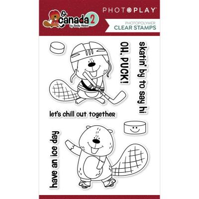 PhotoPlay O Canada 2 Clear Stamps - Beaver Hockey
