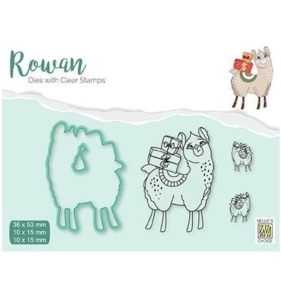 Nellie's Choice Clear Stamps & Dies Set - Christmas Lama