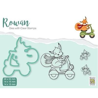 Nellie's Choice Clear Stamps & Dies Set - Christmas Fox