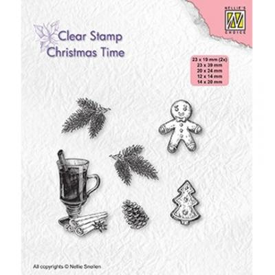 Nellie's Choice Clear Stamps - Christmas Time - Christmas Decorations
