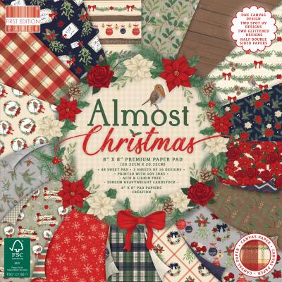 First Edition Almost Christmas Designpapier - Paper Pad