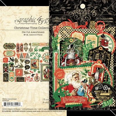 Graphic 45 Christmas Time - Die-Cut Assortment