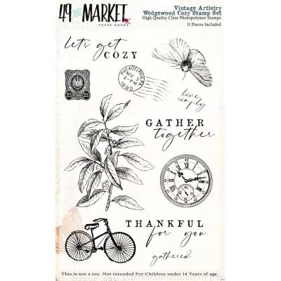 49 And Market Vintage Artistry Clear Stamps - Wedgewood