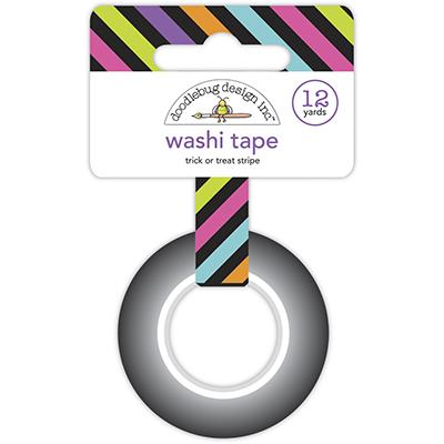 Doodlebug Ghost Town Washi Tape - Trick Or Treat Stripe