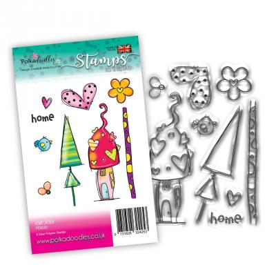 Polkadoodles Clear Stamps - Home Grown