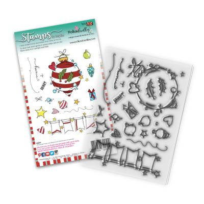 Polkadoodles Clear Stamps - Baubles & Banners Christmas