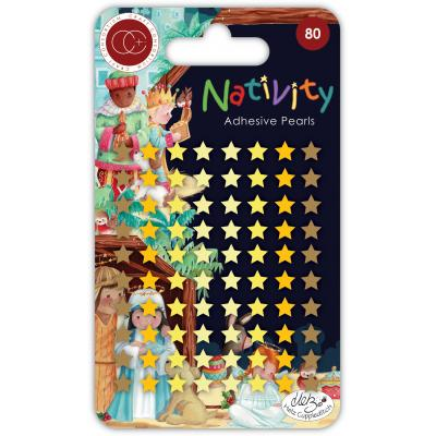 Craft Consortium Nativity Sticker - Adhesive Pearl Stars